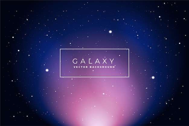 Vetor de fundo de galáxia espacial
