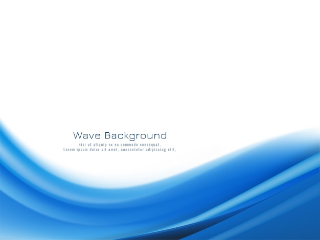 Vetor de fundo de onda azul elegante e moderno