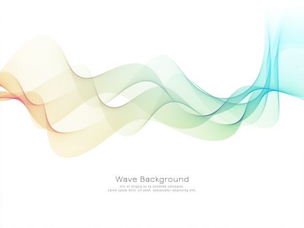 Vetor de fundo de onda colorida elegante e elegante