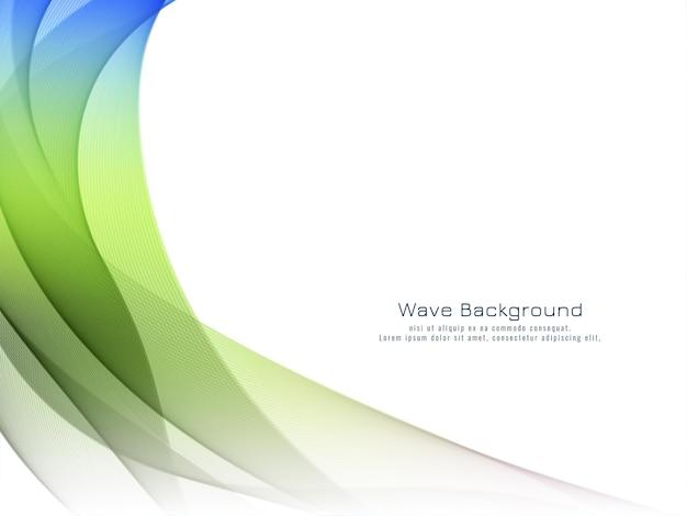 Vetor de fundo de onda colorido decorativo moderno
