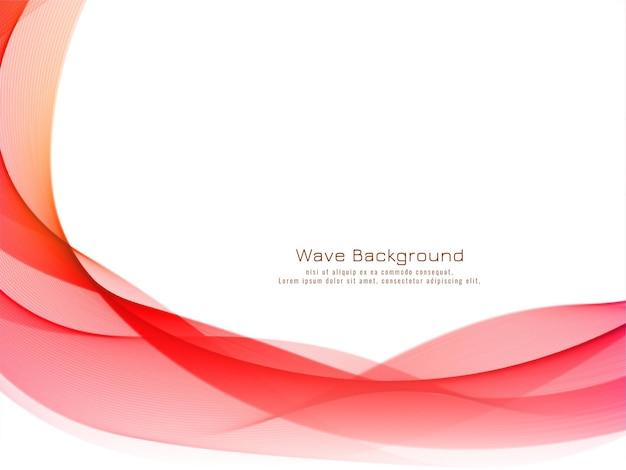 Vetor de fundo de onda colorido moderno e elegante