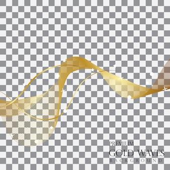 Vetor de fundo de onda dourada