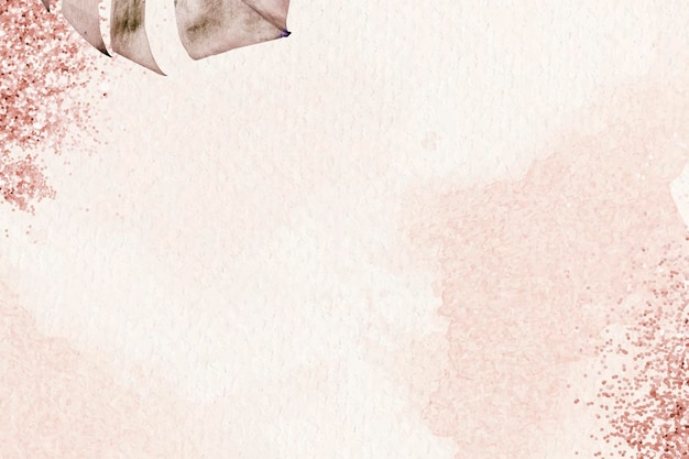 Vetor de fundo de padrão de folha de monstera metálico