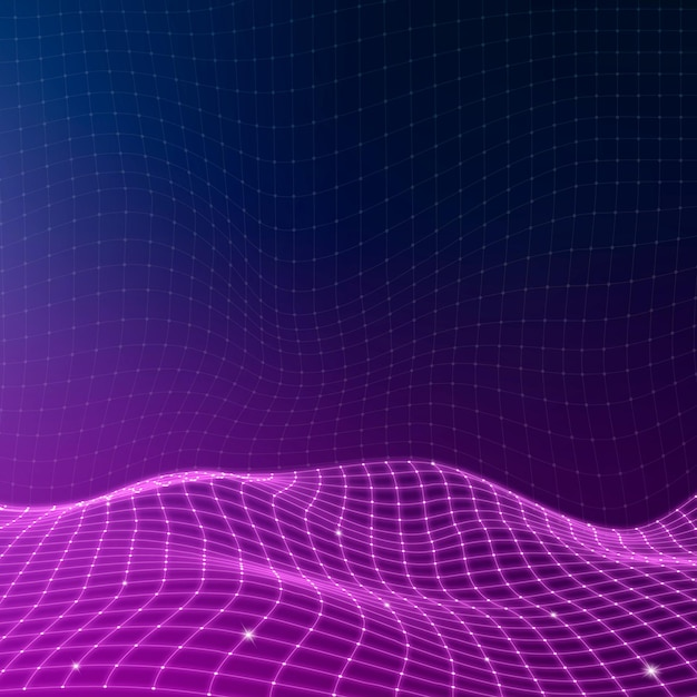 Vetor de fundo de padrão de onda abstrato 3d roxo