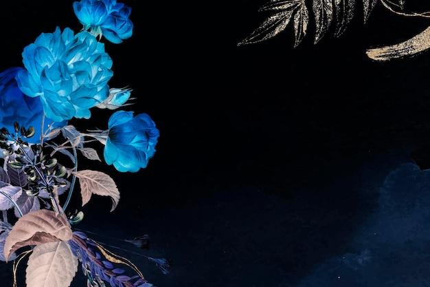 Vetor de fundo de papel de parede de flores