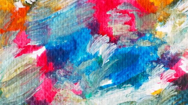 Vetor de fundo de pincelada acrílica colorida