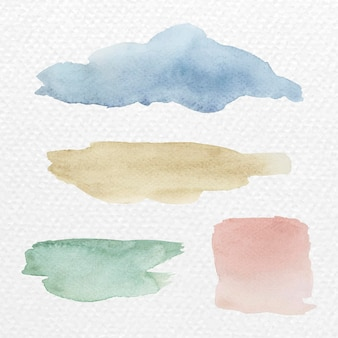 Vetor de fundo de pinceladas coloridas em aquarela