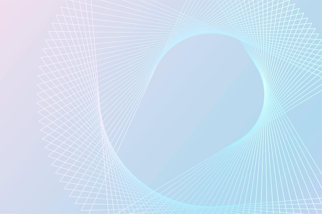 Vetor de fundo de tecnologia com padrão de estrutura de arame espiral em tom azul