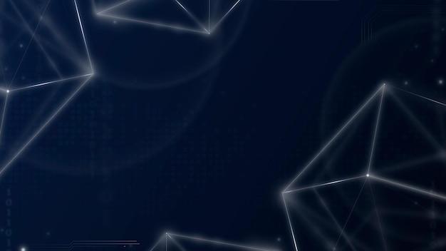 Vetor de fundo de tecnologia de grade digital em tom azul