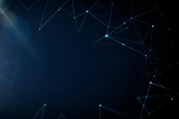 Vetor de fundo de tecnologia de rede 5g com linha digital azul