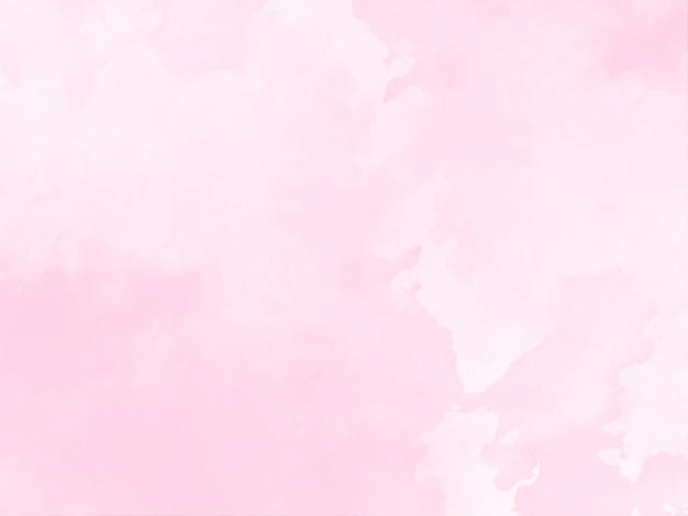 Vetor de fundo decorativo com textura aquarela rosa suave