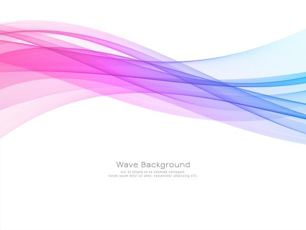 Vetor de fundo decorativo de onda colorida moderna
