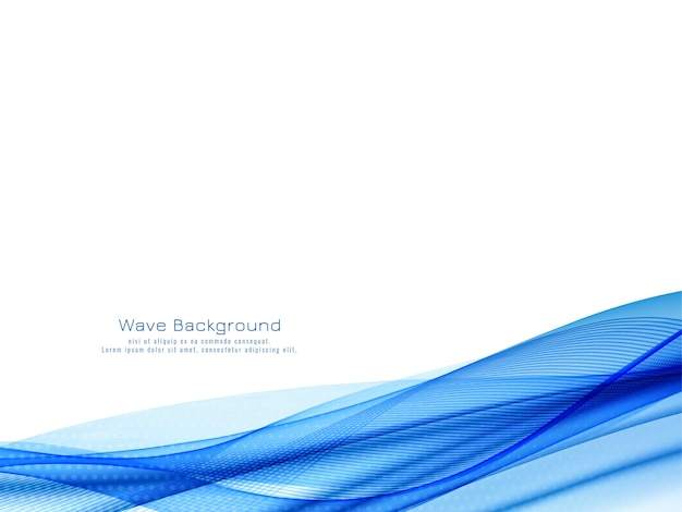 Vetor de fundo decorativo moderno de onda azul
