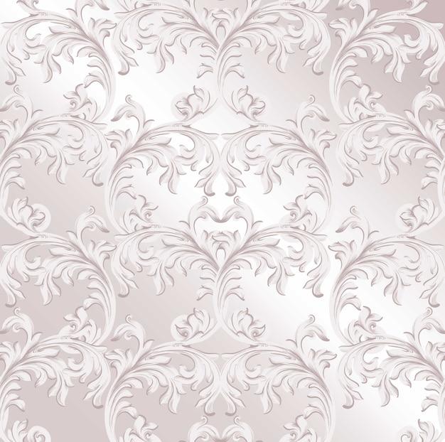Vetor de fundo do padrão barroco. textura de decoração de ornamento artesanal vintage com eff brilhante