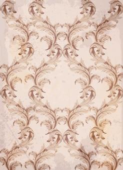 Vetor de fundo do padrão barroco. texturas de decoração de ornamento vintage