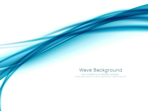Vetor de fundo elegante de design de onda azul abstrato