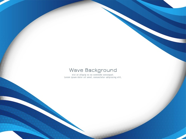 Vetor de fundo elegante design moderno onda azul elegante