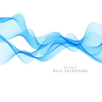 Vetor de fundo elegante onda azul moderno
