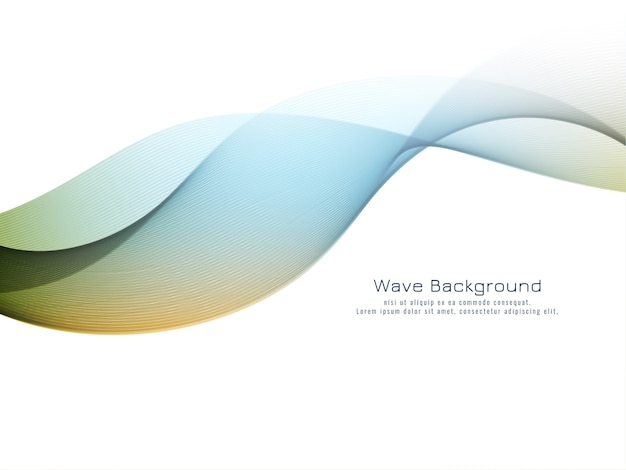 Vetor de fundo elegante onda colorida abstrata