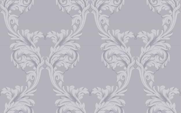 Vetor de fundo escuro de padrão barroco. texturas de decoração de ornamento vintage