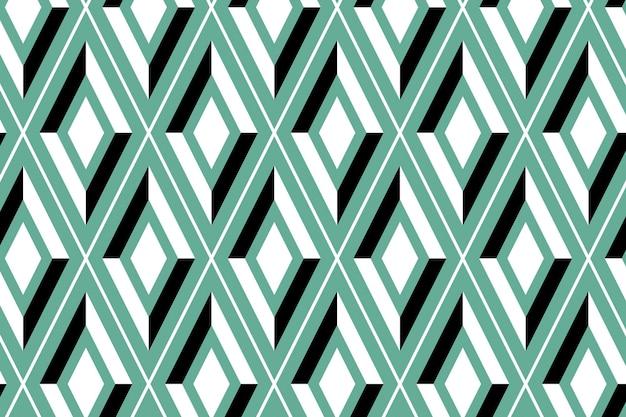 Vetor de fundo estampado geométrico sem costura verde brilhante