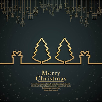Vetor de fundo festival linda árvore de natal feliz