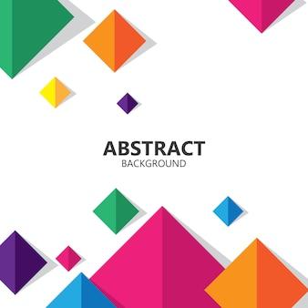 Vetor de fundo geométrico colorido quadrado abstrato