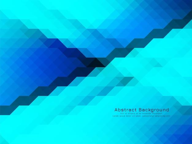 Vetor de fundo geométrico de padrão de mosaico triangular azul coolor Vetor Premium