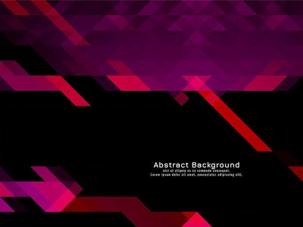 Vetor de fundo geométrico de padrão de mosaico triangular de cor roxa