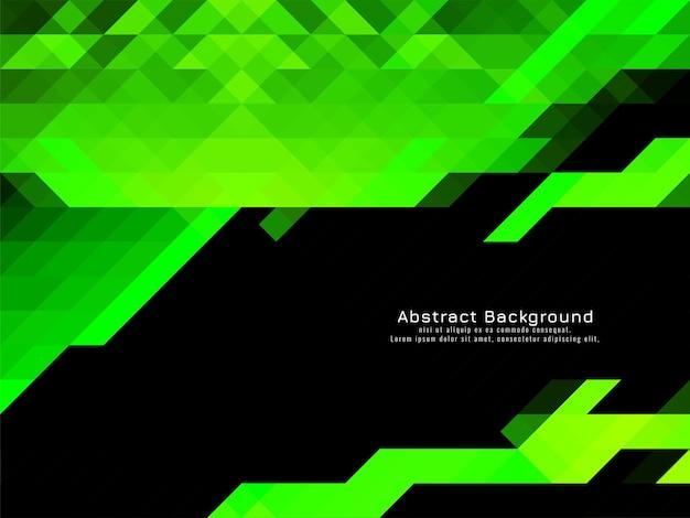 Vetor de fundo geométrico de padrão de mosaico triangular de cor verde