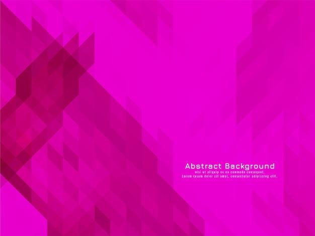 Vetor de fundo geométrico de padrão de mosaico triangular rosa