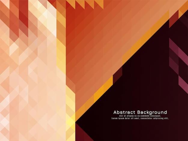 Vetor de fundo geométrico de padrão de mosaico triangular