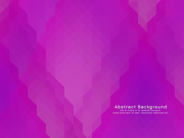 Vetor de fundo geométrico de padrão triangular em mosaico roxo