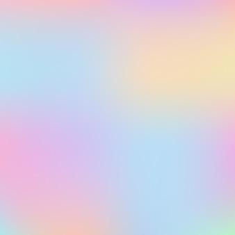 Vetor de fundo holográfico de unicórnio arco-íris