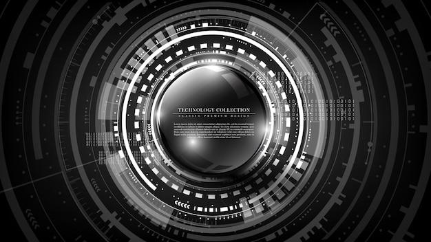 Vetor de fundo interativo de tecnologia abstrata futurista de tecnologia