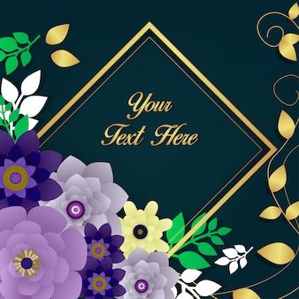 Vetor de fundo linda flor padrão