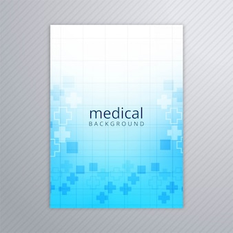 Vetor de fundo modelo abstrato brochura médica