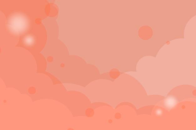 Vetor de fundo nublado laranja abstrata