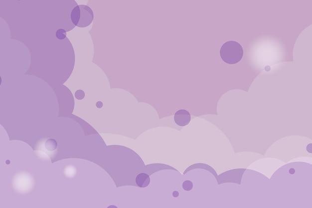 Vetor de fundo nublado roxo abstrata