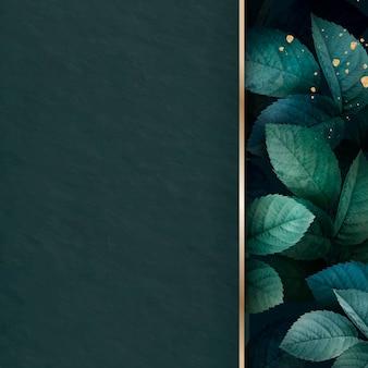 Vetor de fundo padrão de folhagem verde