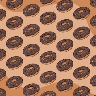 Vetor de fundo padrão de rosquinhas
