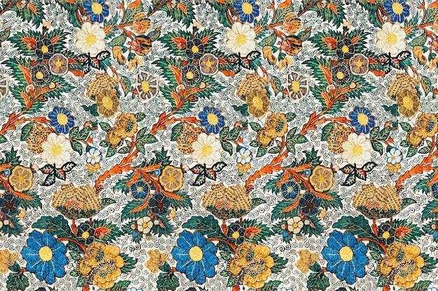 Vetor de fundo padrão floral vintage