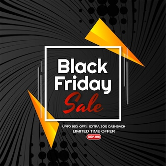 Vetor de fundo preto de estilo cômico moderno de venda sexta-feira