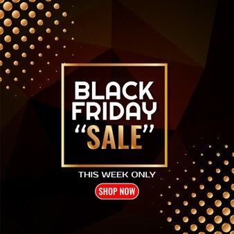 Vetor de fundo preto de pontos dourados de venda sexta-feira