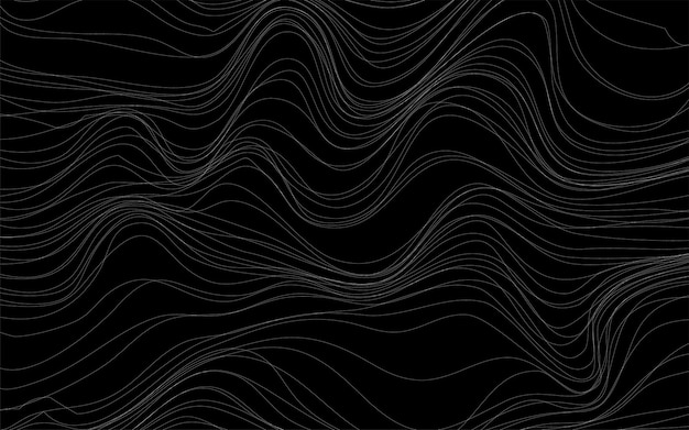 Vetor de fundo preto de texturas de onda