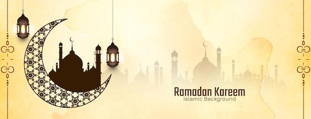 Vetor de fundo religioso do festival islâmico tradicional ramadan kareem