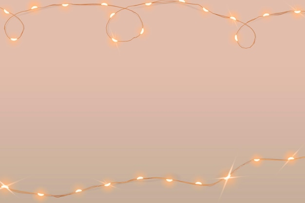 Vetor de fundo rosa festivo com luzes brilhantes com fio