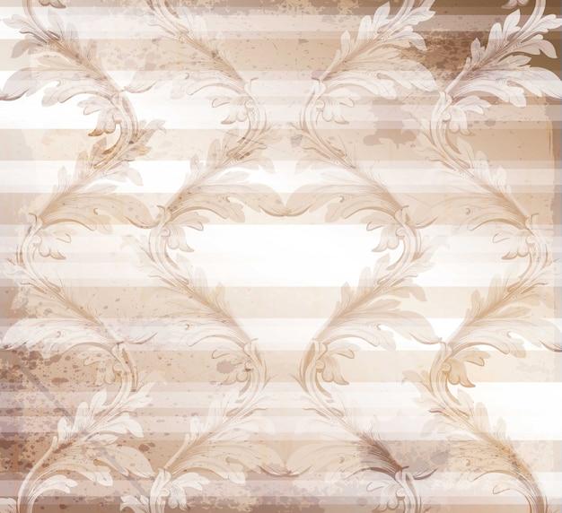 Vetor de fundo suave de padrão barroco. texturas de decoração de ornamento vintage
