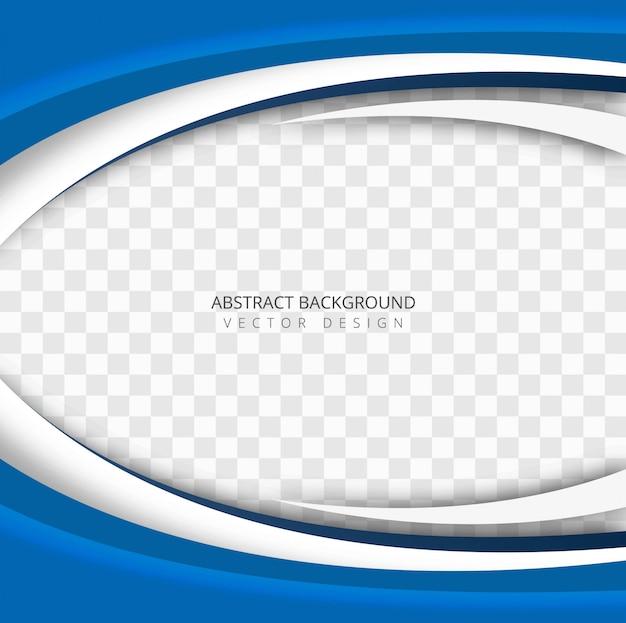 Vetor de fundo transparente abstrato onda azul