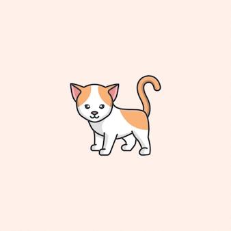 Vetor de gato bonito